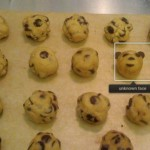 iPhoto finds a face in chocolate chip cookie dough