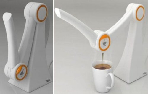 IMO Coffee Maker looks like a robot arm