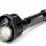 Infrared flashlight records video