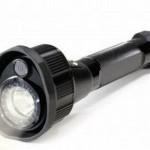 Infrared flashlight records video
