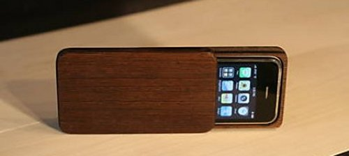 Handmade wood iPhone 3G cases