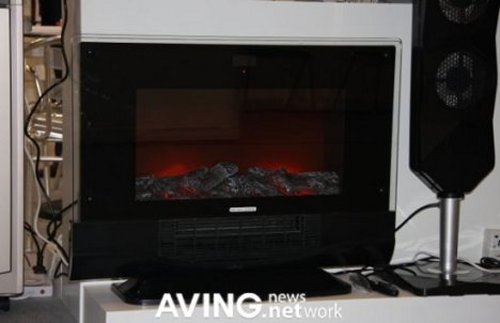 CalSpas FRP4300 Fireplace boasts iPod dock, speakers