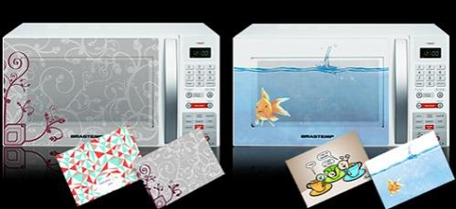 Stickers spice up your boring microwave