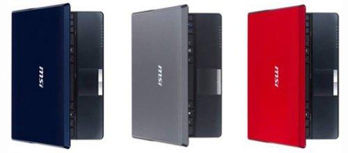 Three new MSI Wind U123 Netbooks
