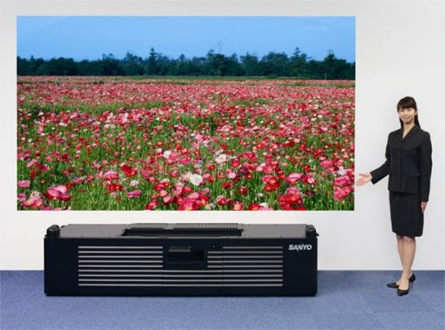 Sanyo's latest super-short focus laser projector