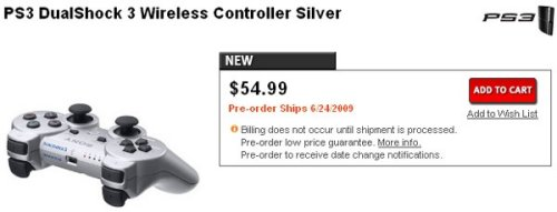 Silver DualShock 3 controller spotted at Gamestop
