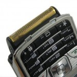 Phone with built-in shaver