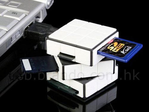 Rubiks Cube card reader