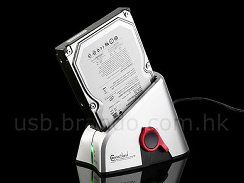 SATA HDD dock with one touch backup