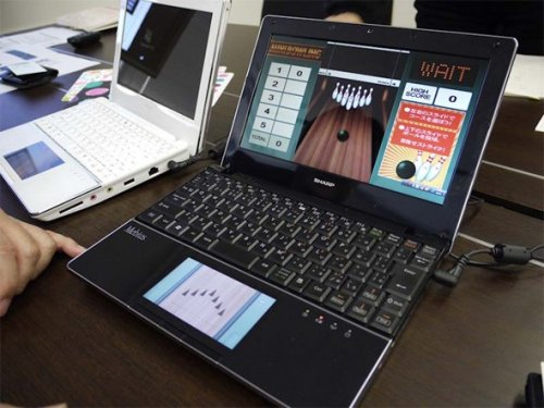 Sharp's Mebius PC-NJ70A with LCD trackpad