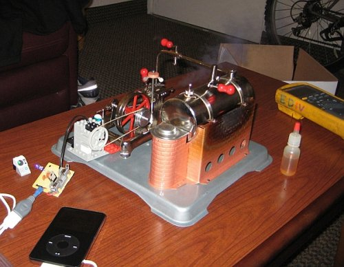 Steam powered iPod charger