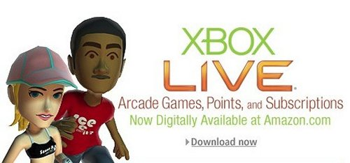 Amazon selling Xbox Live Arcade game codes