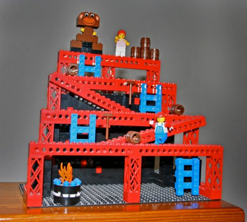 Awesome Lego Donkey Kong level