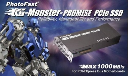 PhotoFast G-Monster-Promise PCIe SSD gets speed boost