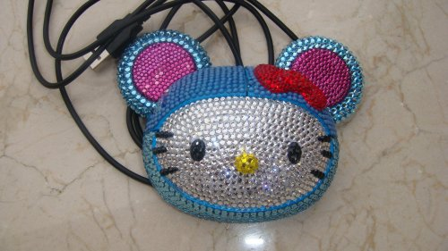 USB Hello Kitty mouse done in Swarovski crystals