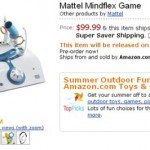 Mattel Mindflex Mind Control Game available for Pre-order