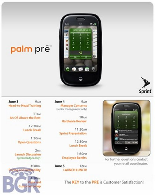 Palm Pre launch on June 5th?