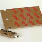 Recycled cardboard USB flash drives