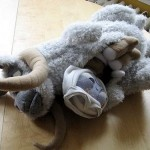Plush Tauntaun with frozen Luke Skywalker