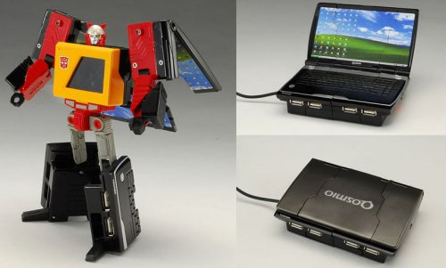 Transformer USB hub turns into a Netbook