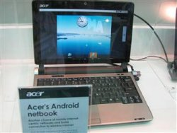 Acer&#039;s first Android netbook will dual-boot Windows