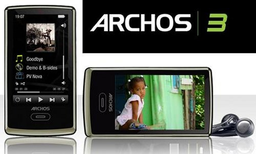 "Archos 3 PMP with 8GB and ""virtual wheel"""