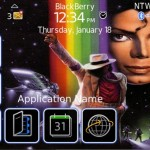 Free BlackBerry 9000 Michael Jackson theme