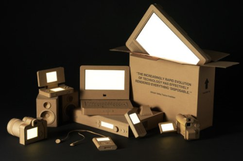 Cardboard gadgets make everything disposable