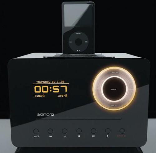Sonoro Eklipse clock radio / iPod dock