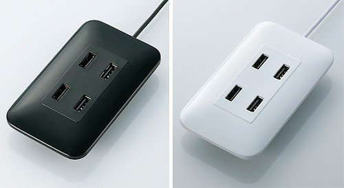 Elecom Wall Socket USB Hub