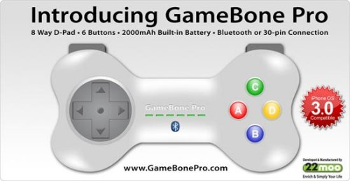 GameBone Pro iPhone controller charges your iPhone while you play