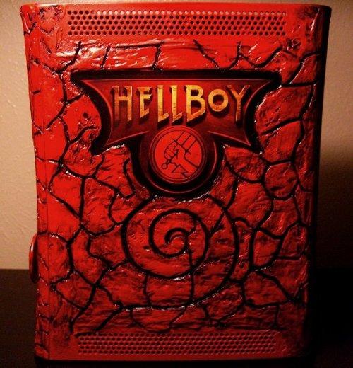 Xbox 360 Hellboy case mod