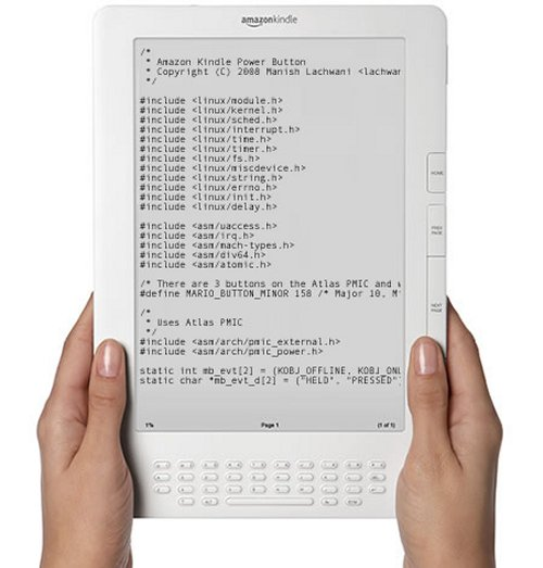 Amazon releases Kindle source code to the world