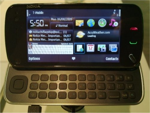 Nokia N97 mobile smartphone in black