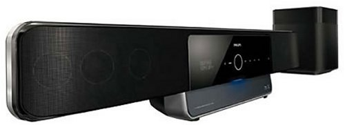 Bluray soundbar with iPhone dock from Philips