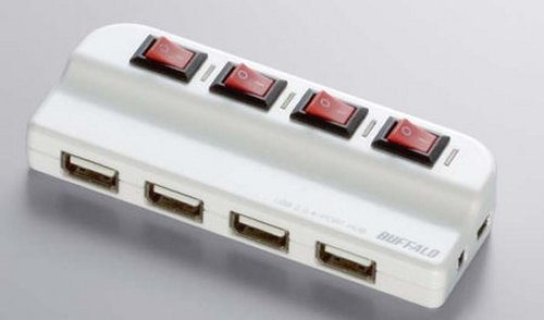 buffalo 4port usb hubpower strip