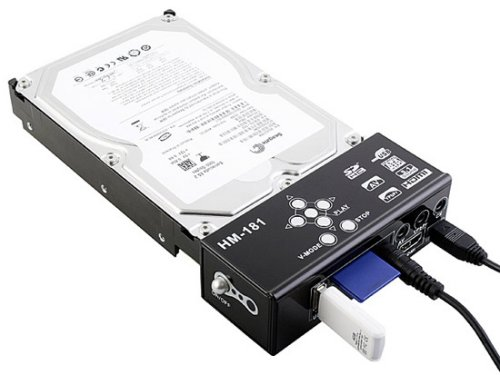 Adapter plays back HD on TV from a hard disk