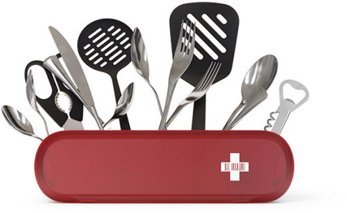 All your kitchen utensils in the Swissarmius
