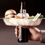The Go Plate parks your food on your beer
