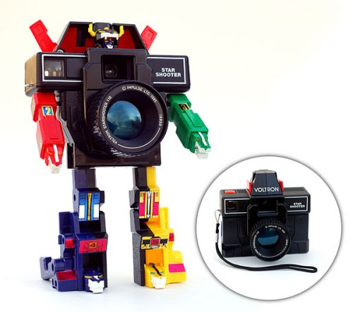 Voltron transforms into a working camera