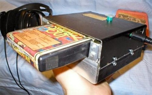 Homemade portable 8-Track player