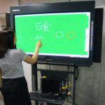 Hitachi&#039;s electronic blackboards with built-in PC