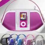 iLive Portable Boom Box Dock for iPod looks like a purse