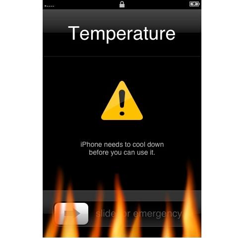 Apple iPhone 3GS overheat warning