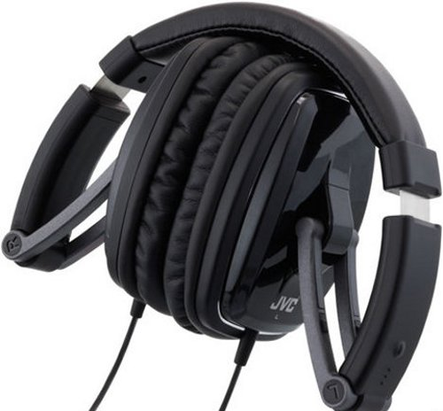 JVC black series foldable headphones