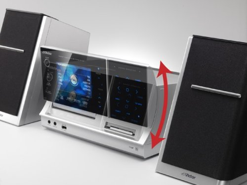 JVC's NX-TC5 iPod dock with motion activated 4.3-inch LCD plays