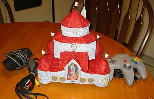 N64 casemod of Princess Peach's castle