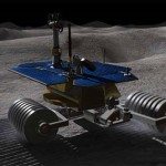 Shadow shaping robots write advertising on the moon