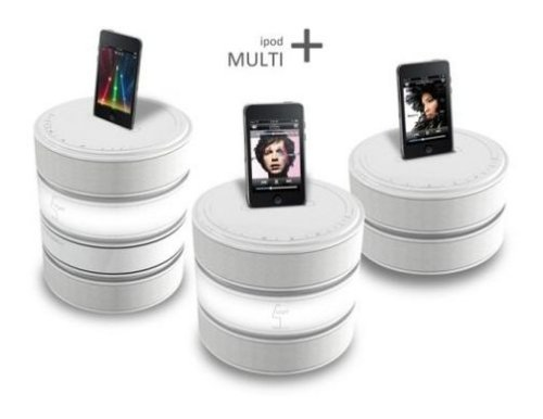 Stackable iPod dock concept