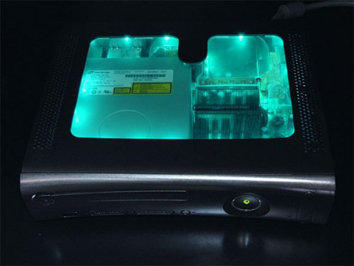 XCM black light chameleon case for xbox 360